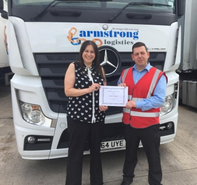 employee of the month about armstrong logistics